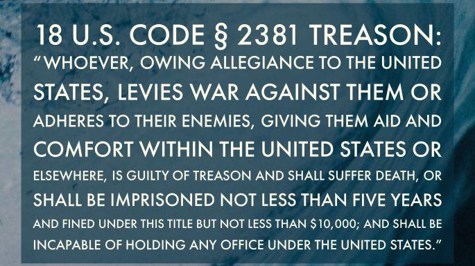 U.S. Code defining treason.