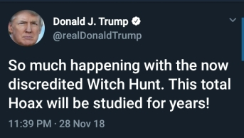 So much happening with the now discredited Witch Hunt. This total Hoax will be studied for years.